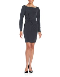 Jessica Simpson Embellished Sheath Dress Charcoal