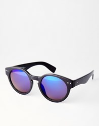 Jeepers Peepers Round Sunglasses With Revo Lenses Black