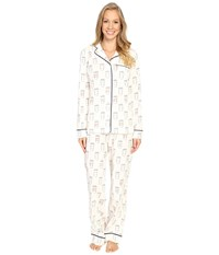 Life Is Good To Go Cup Jersey Sleep Set Simply Ivory Women's Pajama Sets White