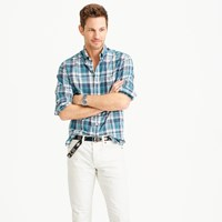 J.Crew Slim Indian Madras Shirt In Blue Haze