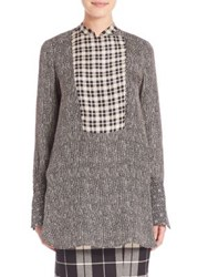 Max Mara Dotted Silk Tunic Black