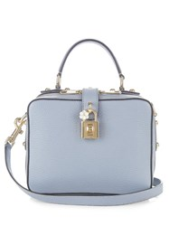 Dolce And Gabbana Rosaria Leather Box Bag Light Blue