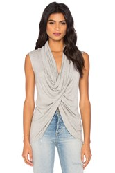 Fifteen Twenty Sleeveless Cross Over Top Grey