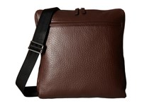 Lodis Borrego Rfid Jack Large Messenger Dark Brown Messenger Bags