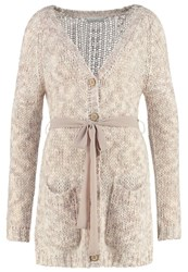 Cream Canza Cardigan Rose Powder