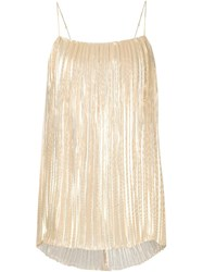 Adam By Adam Lippes Adam Lippes Long Pleated Camisole Metallic