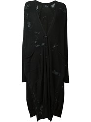 Lost And Found Ria Dunn Sheer Long Knit Coat Black