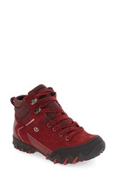 Allrounder By Mephisto Women's 'Nigata Tex' Waterproof Sneaker Black Red Suede