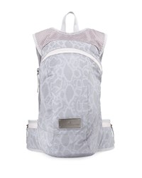 Snake Print Tech Fabric Backpack Reflective Silver Adidas By Stella Mccartney