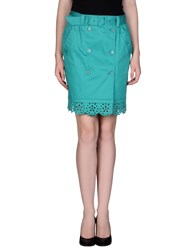 Love Moschino Skirts Knee Length Skirts Women Emerald Green
