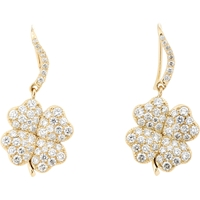 Aurelie Bidermann Fine Four Leaf Clover Drop Earrings