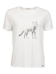Barbour Cheviot Wolf Print T Shirt Snow