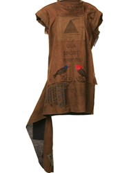 Bernhard Willhelm Asymmetric Oversized Top Brown