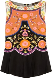 Vineet Bahl Embroidered Crepe Top Black