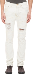 Nsf Distressed Ozzy Jeans White
