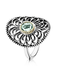 Pandora Design Pandora Ring Sterling Silver And 14K Gold Vintage Allure