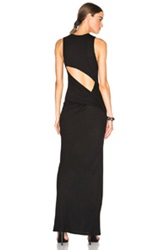 Haute Hippie Sexy Open Back Maxi Dress In Black