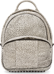 Alexander Wang White And Black Leather Contrast Tip Dumbo Backpack