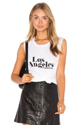 Tyler Jacobs Los Angeles Cut Off Tank White