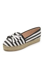 Kate Spade Linds Platform Espadrilles Black White