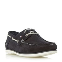 Tommy Hilfiger Deck 5B White Sole Suede Boat Shoes Navy