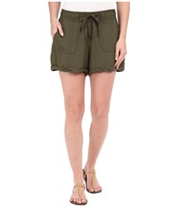 Bb Dakota Mcgee Heavy Rayon Challi Utility Shorts Utility Green Women's Shorts