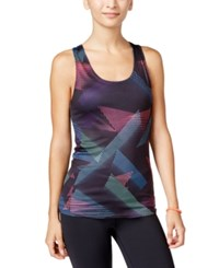 Energie Active Juniors' Robbie Reversible Racerback Tank Top Geo Print Blue