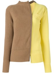 Sacai Two Tone Jumper Nude And Neutrals