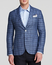 Hardy Amies Twill Check Half Lined Sport Coat Regular Fit