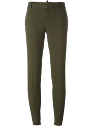 Dsquared2 Skinny Cigarette Trousers Green
