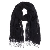 Mint Velvet Lace Scarf Black