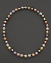 Tara Pearls Natural Multicolor Freshwater Tahitian White South Sea And Gold South Sea Cultured Pearl Strand Necklace 17