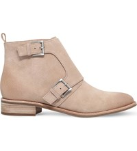 Michael Michael Kors Adams Monk Strap Suede Boots Taupe