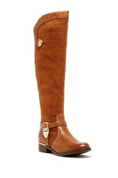 Godiva Amanda Textured Over The Knee Boot Brown