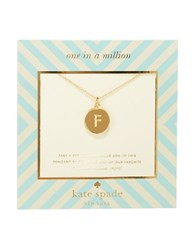 Kate Spade One In A Million Letter F Pendant Necklace Gold
