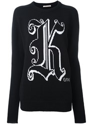 Christopher Kane Crew Neck Sweater Black