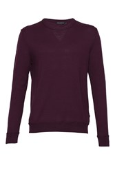 French Connection Men's Winter Linked Rib Jumper Purple