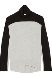 Duffy Two Tone Cashmere Turtelneck Sweater Black
