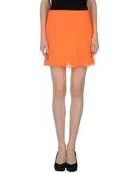 Space Style Concept Mini Skirts Orange