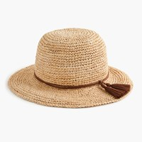 J.Crew Straw Hat With Tassels Natural