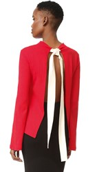 Jacquemus Open Back Blouse Red