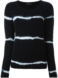 Roberto Collina Tie Dye Effect Jumper Black