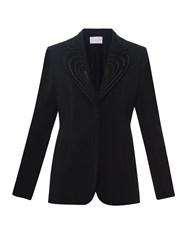 Christopher Kane Lace Lapels Single Breasted Crepe Blazer