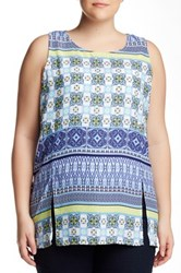 Halo Print Tunic Plus Size Multi