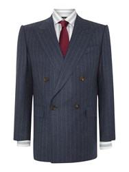 Chester Barrie Men's Stripe Tailored Fit Suits Blue
