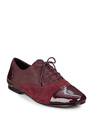 Gentle Souls Colorblock Calf Hair And Suede Oxfords Plum