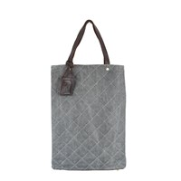 Urban Travel Quilted Shopper Grey Canvas