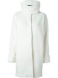 Ralph Lauren Black Label Ralph Lauren Black Funnel Neck Coat White