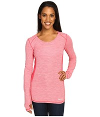 Marmot Lateral Long Sleeve Pink Rock Women's Clothing Red