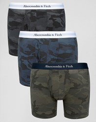Abercrombie And Fitch 3 Pack Trunks In Camo Multi